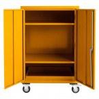 Mobile Flammable COSHH Cabinet 120x90x60 - Bedford 81F296 - Doors Open