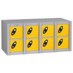 Probe MINIBOX 8 Door Electronic Locking Phone Locker yellow