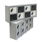 Probe Minibox 8 door stackable locker - showing 2 x Mini 8 Door lockers