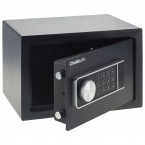 chubbsafes air door open shows inner base carpet and comes with key hooks