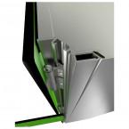 Probe ZENBOX Aluminium showing concealed hinge