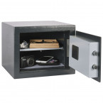 Chubbsafe Alphaplus fully open showing adjustable shelf