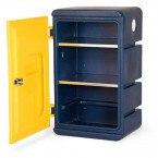 Armorgard Chemcube CCC1 Leak Proof Liquids Plastic Cabinet - door open