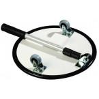 Folded Security Inspection Mirror 35cm Castors LED - Dancop