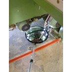 Security Inspection Mirror Castors - Dancop Spexi 35cm in use