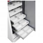 Phoenix Data Commander DS4622F Fingerprint Fire Tape Cabinet - pull out tape drawers open