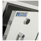 Dudley Harlech Lite Home Insurance Rated Security Safe - Close up