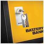 Key Lock for Defender Battery Bank Power Tool Charging Locker