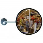 Dancop EC-US-30 Telescopic Arm Convex Wall Mirror - industrial use