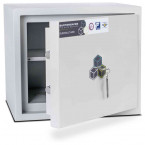 Burton Aver 1K Insurance Approved Key Locking Security Safe - door ajar