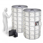 Probe Space Saving 66 Compartment Locker Pod