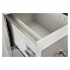 Burton 4 Dr Key Locking Fire Filing Cabinet FF400K MK2 60 mins drawer close up
