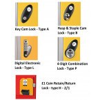 Probe Z Locker Lock Options – Key Locking, Hasp & Staple, Digital Electronic, Combination, Coin Return & Coin Retain Lock