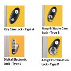 Probe Lock Options - Key Locking, Hasp & Staple, Digital Electronic and Combination Lock