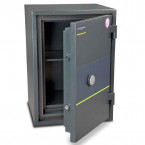 Burton Firesec 4/60 3K Key Locking Security Fireproof Safe - door ajar