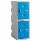 vProbe UltraBox PLUS Low 2 Door Waterproof Plastic Locker - blue