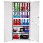 Phoenix FS1513K Fire Ranger Fire Security Paper Storage Cabinet both doors open