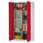 Probe Industrial 8 Compartment Cabinet 915x460 red doors