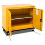 Armorgard Safestor HMC1 2 Door Mobile Flammable Cupboard - doors open