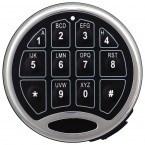 Digital Security Safe - Securikey Mini Vault Gold FR 1E - Showing lock