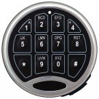 Digital Electronic Security Safe - Securikey Mini Vault Silver 0E - lock close up