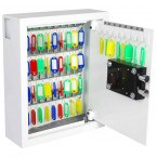 Phoenix Cygnus KS0032K 48 hooks Key Locking Key Cabinet - showing key tags