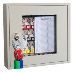 KeySecure KS40V Key View Window Cabinet 40 Keys - Padlock Hasp Lock