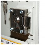 Key Lock Extra Secure Cabinet 600 Hooks - Lock Close Up