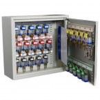 Keysecure KSE25C-MD 25 Hooks Push Button Digital Vehicle Key Cabinet - door open