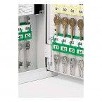 Mobile Key Storage Cabinet 63 Keys - Securikey KH063 - Key Hooks