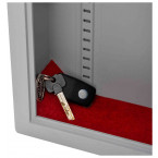 Securikey Electronic Key Storage & Key Deposit Safe 38 Keys - keys deposited on carpet