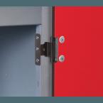 Probe Laminate Inset 4 Door Locker with Door Hinge Detail