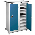 Probe LapBox 2 Door 16 Laptop Blue USB Charging Trolley Locker
