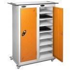 Probe LapBox 2 Door 16 Laptop Orange USB Charging Trolley Locker