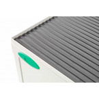 Probe Medical Small Steel Cabinet with Dished Top close up