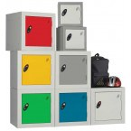 Probe 1 Door Key Locking Modular Small Steel Cube Lockers are ideal for primary schools