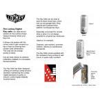 Lockey Digital Spare Door Key Safe - Satin Chrome - specification