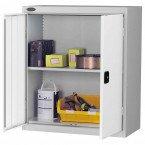 Probe LC403618 Double Door Cabinet 915x460 - White doors - Silver Grey body