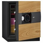 Phoenix Next LS7001FO Luxury Oak Panel 60 mins Fire Security Safe - door ajar