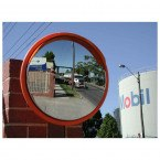 Stainless Steel Outdoor Convex Mirror - Securikey M16047C 450mm Orange Frame