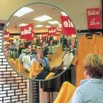 Securikey M18108J Interior Acrylic Convex Wall Mirror 900mm - Retail Shop