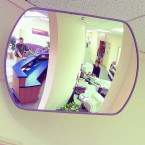 Rectangular Interior Mirror - Securikey Wide Angle 600 x 400 mm - office
