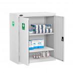 Probe MED-T Medical Low Double Door Steel Cabinet - doors open