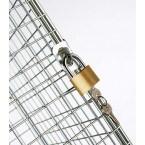 Robinson 16 Door Metal Wire Mesh 1360x1525x300mm Storage Locker - hasp lock on each door