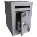 Burton Mini Teller Day Deposit Safe Key Locking  - door ajar