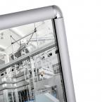 Vialux 4601PL 44x64cm Flat Safety Mirror | Aluminium Frame detail