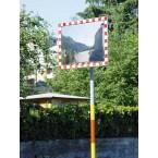 Moravia Durabel 2 Stainless Steel Traffic Mirror 600x800 on pole
