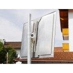 Durabel 1 Stainless Steel Convex Traffic Mirror 40x60cm - rear post fixing
