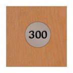 Probe Low Steel Laminate Inset 2 Door Locker - Number plate detail