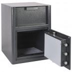 Omega Safe Fully open Showing inside of safe total depth 308 millimeters